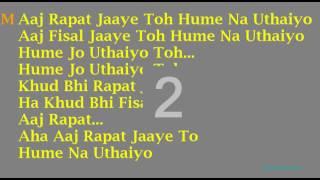 Aaj rapat jaye to (Karaoke 4 Duet)