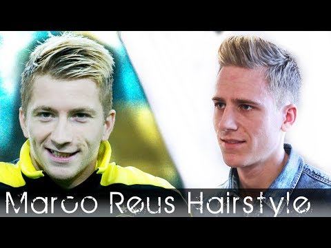 Soccer Player Haircut | Marco Reus Hair Inspired | Bleaching, Highlights & Hair Styling