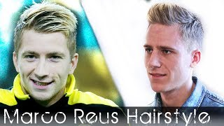 Soccerplayer haircut - Marco Reus inspired - Bleaching highlights and hair styling