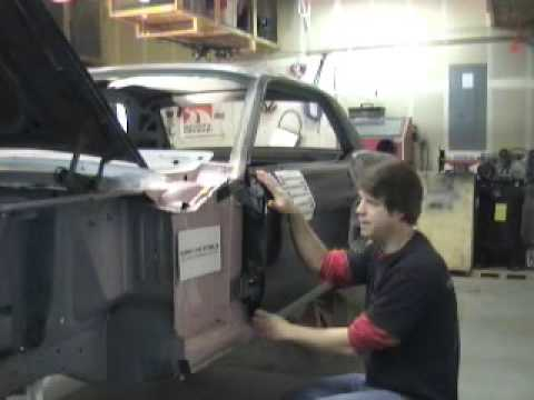 How To Install And Align A Classic Mustang Door Youtube