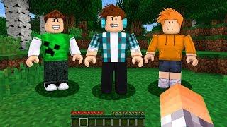JOGUEI MINECRAFT DENTRO DO ROBLOX !! - (Roblox Minecraft)