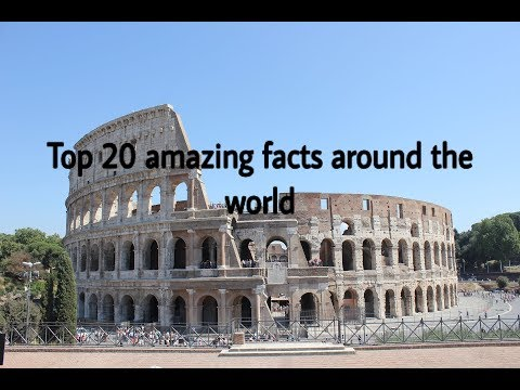 Top 20 amazing facts around the world in hindi