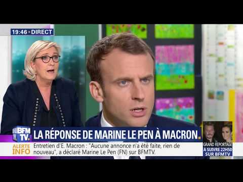 Marine Le Pen face à Ruth Elkrief (Macron, Syrie, Election E