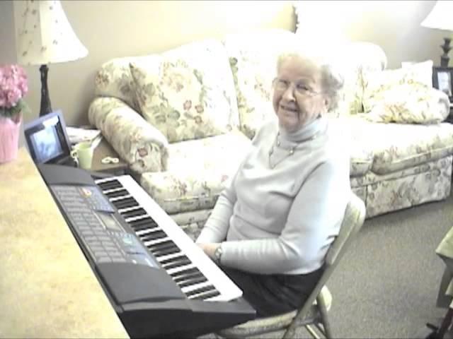 Marjorie on keyboard