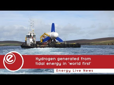 Hydrogen generated from  tidal energy in 'world first'