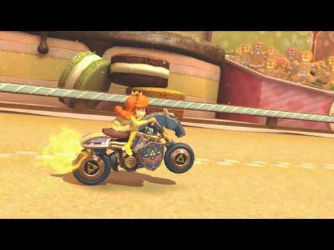 A Near Naked Daisy Kicks Sweet Ass on Sweet Sweet Canyon - Mario Kart 8 - Wii U