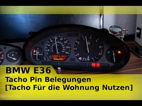 BMW E36 Tacho Pin Belegungen [Tacho Für die Wohnung Nutzen] - YouTube