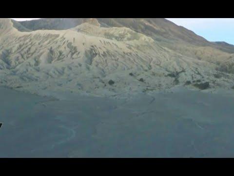 Dedaunan Diselimuti Es, Wisatawan Nikmati Momen Langka Bromo