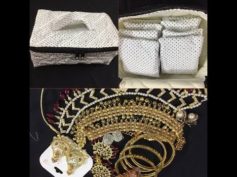 #DIY //JEWELLERY BOX WITH POCKETS//HOW TO MAKE A JEWELLERY//DIY JEWELLERY BOX OLD CLOTH