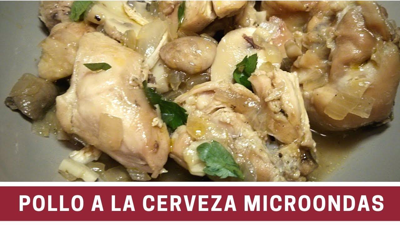 Pollo a la cerveza al microondas cocinar en microondas for Cocinar en microondas