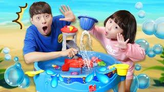 마슈의 퍼피구조대 목욕 물총 워터테이블 장난감으로 물놀이! Mashu Having Fun with Paw Patrol Water Table- 마슈토이 Mashu ToysReview