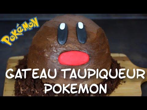 recette-gateau-taupiqueur-pokemon-nutella-|-diglett-cake