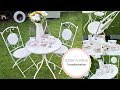 How to Paint metal garden furniture, French shabby chic style | DIY