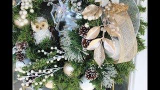 США Рождество 2017 Веночек на Входную Дверь Очумелые Ручки