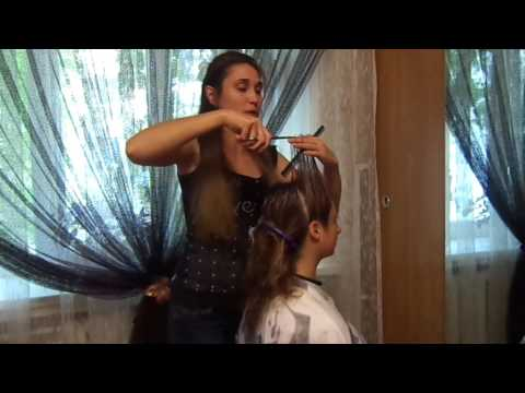 Колорирование и каскад волос Coloring and hair cut