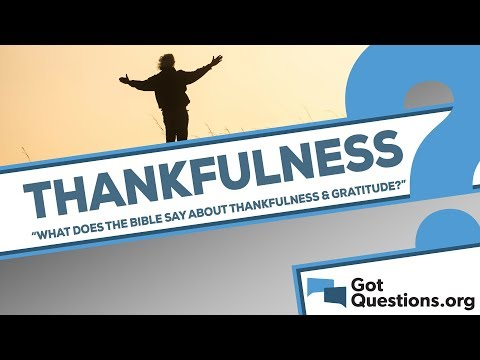 What does the Bible say about thankfulness/gratitude