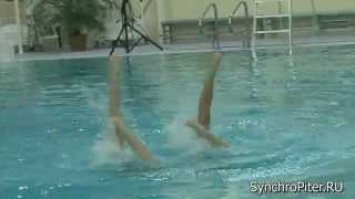 Синхронное плавание. Дуэт 7. Чемпионат СПб (март 2014)