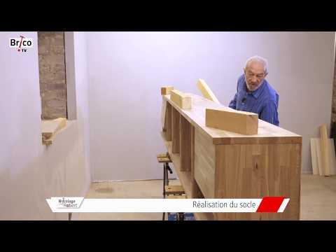 La fabrication d'un meuble TV/bibliothque en chne