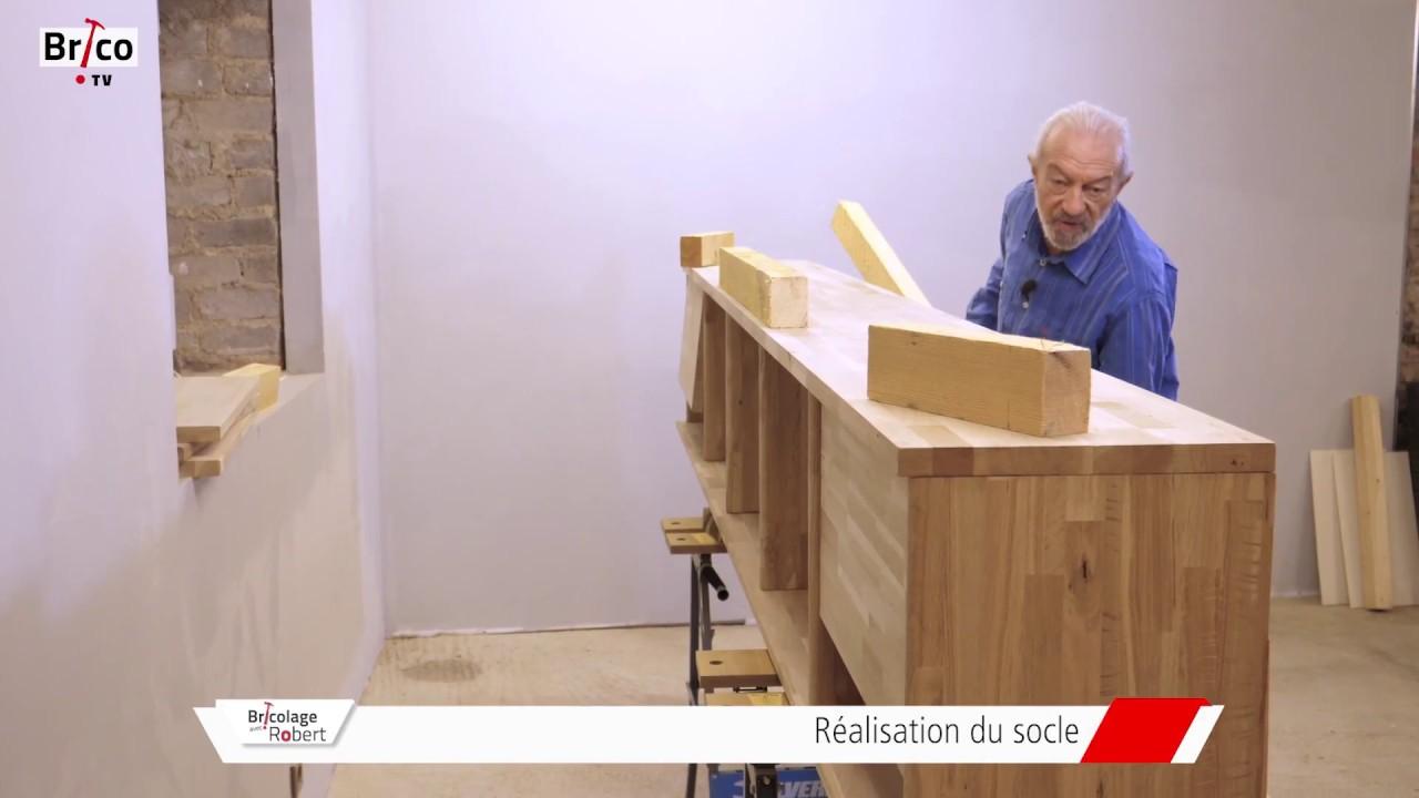 la fabrication d un meuble tv bibliotheque en chene