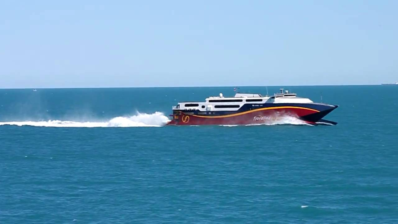 One of the Worlds Fastest Ferries: HSC Fjord Cat - YouTube