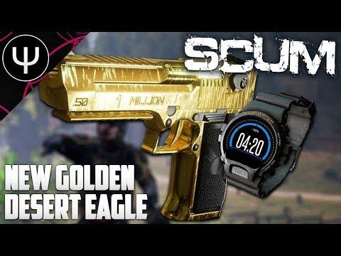 SCUM — NEW Golden Desert Eagle Gameplay (NEW WEAPONS)!