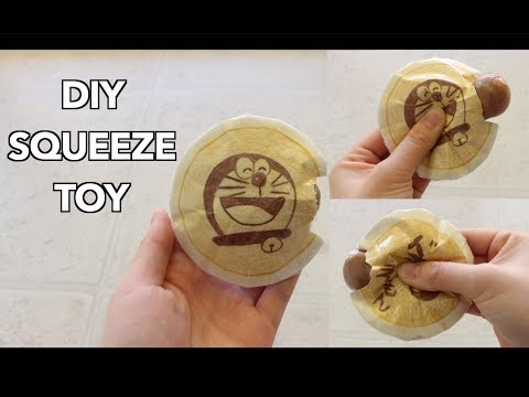 DIY Paper Squishy Squeeze Toy- No puffy paint/ foam
