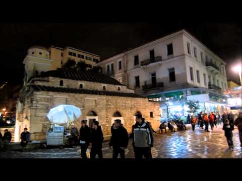 Streets of Athens at Night, Greek Independence Day