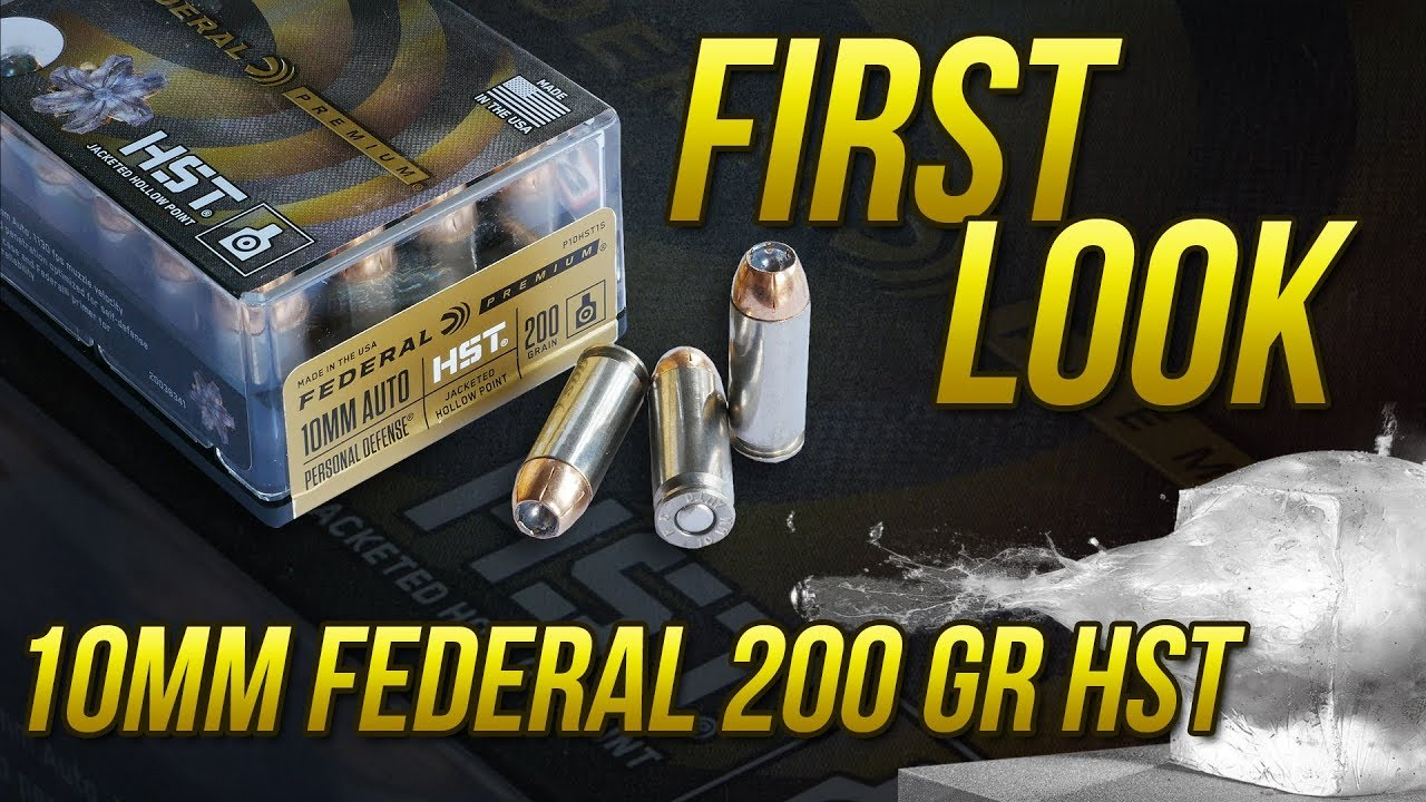 First Look At The New 10mm 200gr HST From Federal!