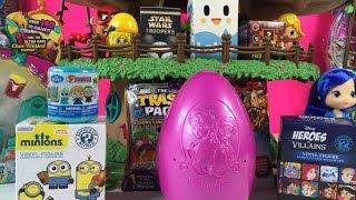 Blind Bag Treehouse Play-Doh Surprise Eggs Shopkins Frozen Unboxing   PSToyReviews