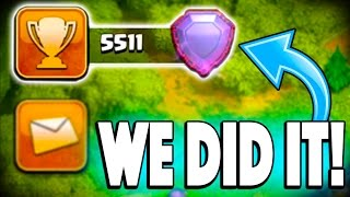 BREAKING 5500 TROPHIES FOR THE FIRST TIME EVER IN CLASH OF CLANS! Pushing to Top 200 #3