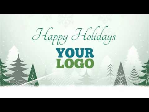 Holiday greetings video card for business 01