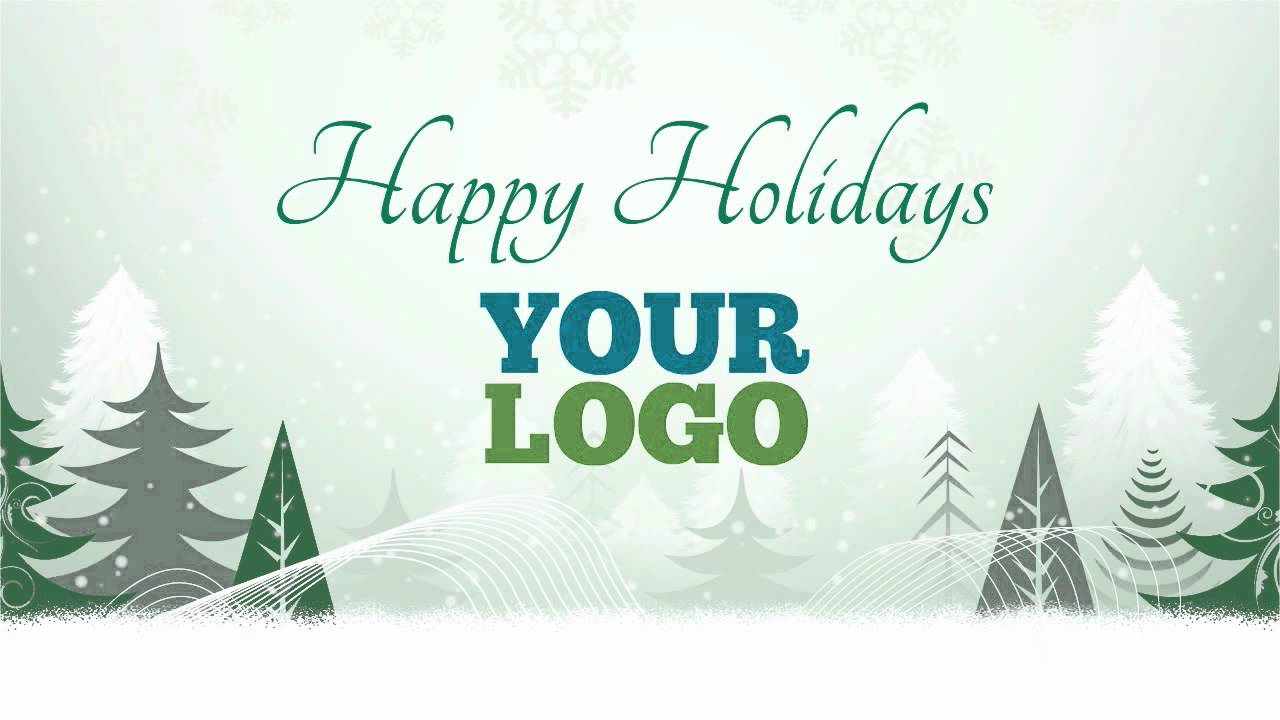 Holiday greetings video card for business 01 - YouTube