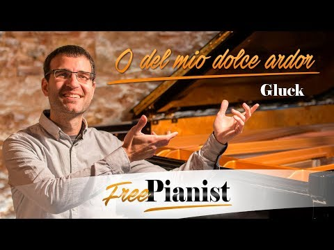 O del mio dolce ardor - F# minor / high voice - KARAOKE / PIANO ACCOMPANIMENT - Gluck