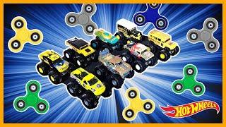 MONSTER TRUCK FIDGET SPINNER DRAG RACING TOURNAMENT !!!