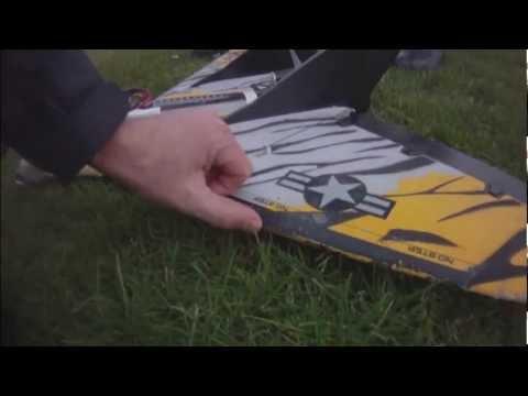 rc plane showing PV solar panels then crashing!