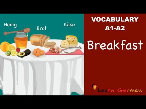 Learn German | German Vocabulary | Das Frühstück | Breakfast | A1 | A2