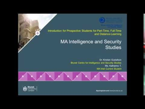 Intelligence and Security Studies Postgraduate Webinar