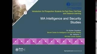 Intelligence and Security Studies Postgraduate Webinar