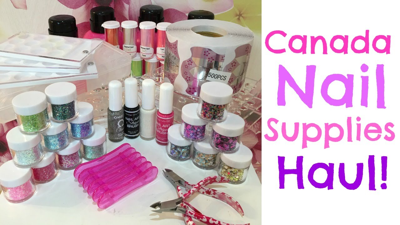 Canada Nail Supplies Haul! | Glitters, Forms, Tools ...