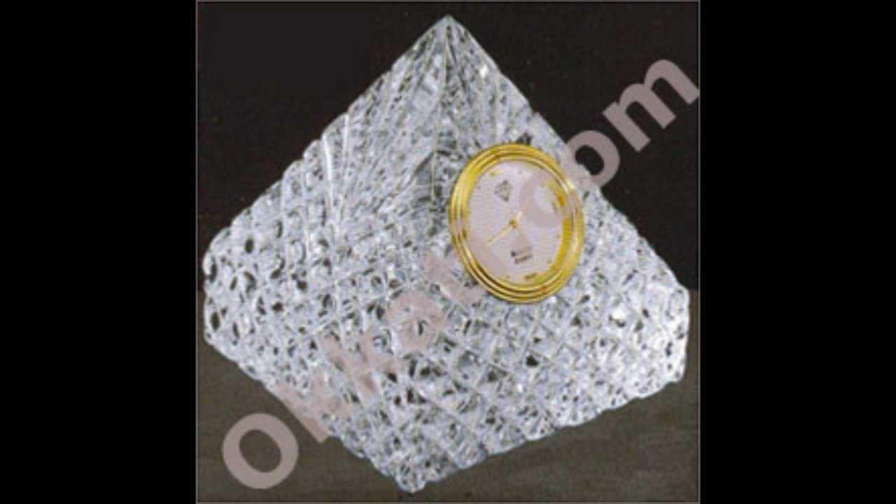 Diamond Crystal Pyramid Clock Gift Articles Birthday Wedding Gifts