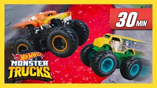 Гонки на падающих треках! | Monster Trucks | @Hot Wheels Россия 3