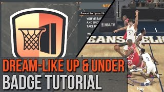 NBA 2K15 - 2K16 Dreamlike Up and Under Badge Tutorial - Get Defense Noobs Up In the Air!