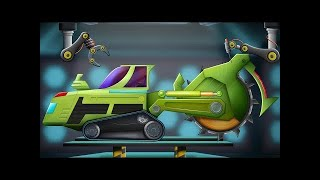 Helicopter Modification Car Garage | Futuristic Vehicles For Kids