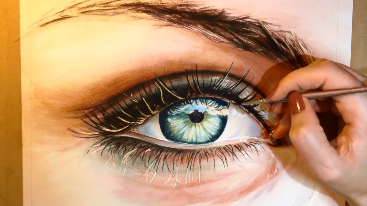 how to paint a realistic eye watercolor portrait