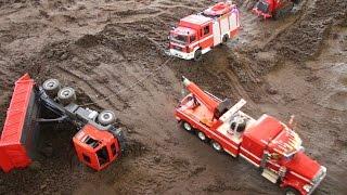 RC TRUCKS CONSTRUCTION SITE ACCIDENT - UNFALL AUF DER BAUSTELLE