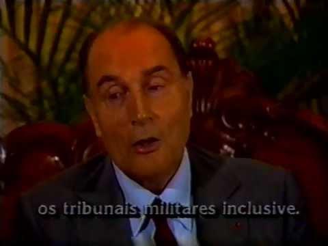 Programa Conexão Internacional , TV Manchete 1993 - François Miterrand