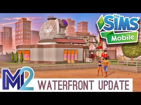 Sims Mobile - Waterfront, Wellness & Science Career, LlamaZoom Overview
