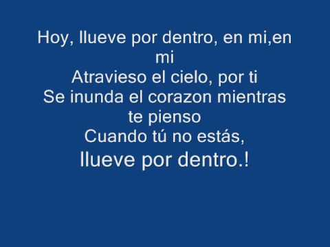 luis fonsi llueve por dentro lyrics