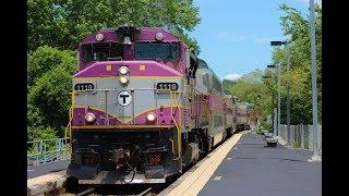 MBTA Trains on the Franklin Line