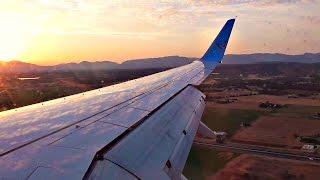 TUIfly Boeing 737-800 SCENIC SUNSET LANDING at Palma de Mallorca Airport | ✈